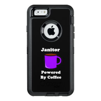 """Janitor"" Powered by Coffee OtterBox Defender iPhone Case"