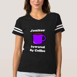 """Janitor"" Powered by Coffee T-shirt"
