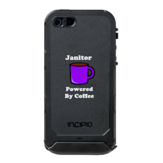"""Janitor"" Powered by Coffee Waterproof iPhone SE/5/5s Case"