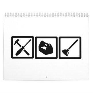 Janitor tools calendar
