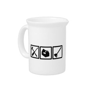 Janitor tools drink pitcher