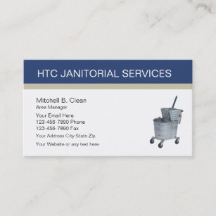 Janitorial Services Business Cards