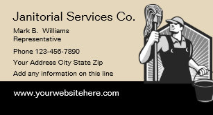 Janitorial Services Design Business Card