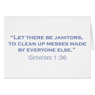 Janitors / Genesis Card
