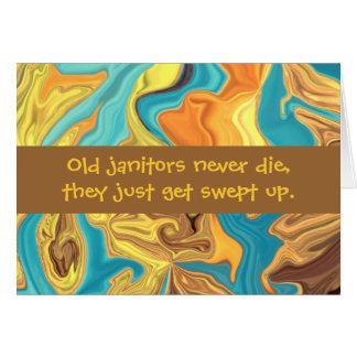 janitors humor card
