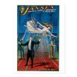 Jansen ~ The Great Vintage Magic Act Postcard