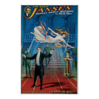 Jansen ~ The Great Vintage Magic Act Posters