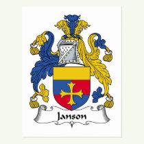 Janson Family Crest Postcard