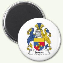 Janson Family Crest Magnet