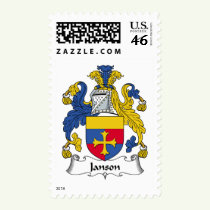 Janson Family Crest Stamps