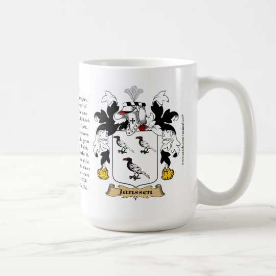 Janssen, the Origin, the Meaning and the Crest Coffee Mug