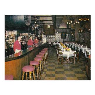 Janssen's Bar, New York City Vintage Postcard