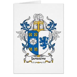 Janssens Family Crest Card