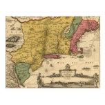 Jansson Visscher Map Postcard
