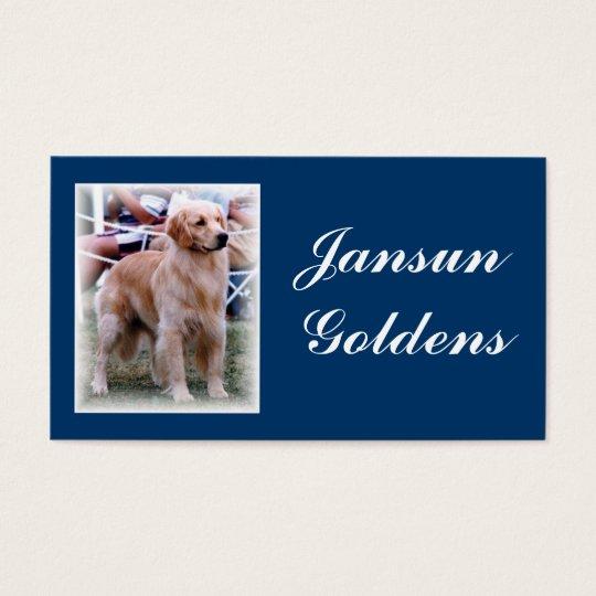 Jansun Goldens Business Card