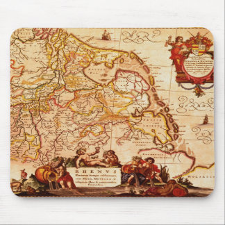Jansz Old Rhinelands Map of the Netherlands Mouse Pad