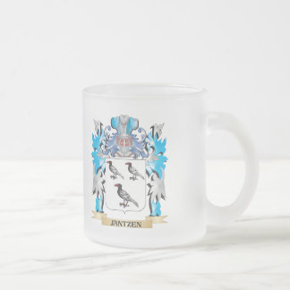 Jantzen Coat of Arms - Family Crest 10 Oz Frosted Glass Coffee Mug