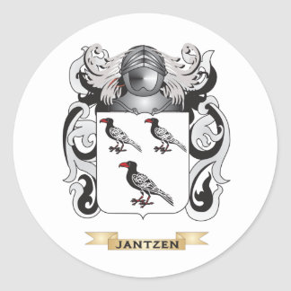 Jantzen Coat of Arms (Family Crest) Classic Round Sticker