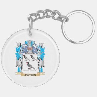Jantzen Coat of Arms - Family Crest Double-Sided Round Acrylic Keychain