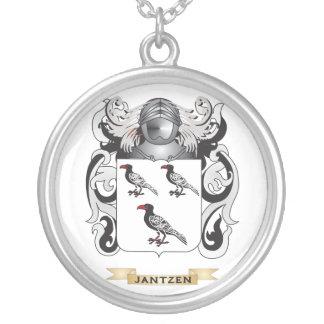 Jantzen Coat of Arms (Family Crest) Round Pendant Necklace