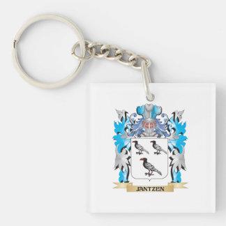 Jantzen Coat of Arms - Family Crest Single-Sided Square Acrylic Keychain