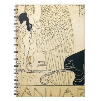Januar by Gustav Klimt Notebook