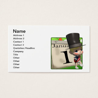 January 1 business card