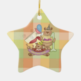 January 1 ceramic ornament