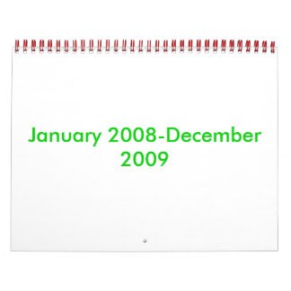 January 2008-December 2009 Calendar