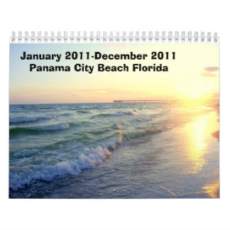 January 2011-December 2011 Panama City Beach Pics Calendar