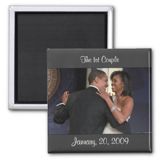 January, 20, 2009, The 1st Couple Magnet