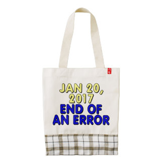 January 20, 2017: End of an error Zazzle HEART Tote Bag
