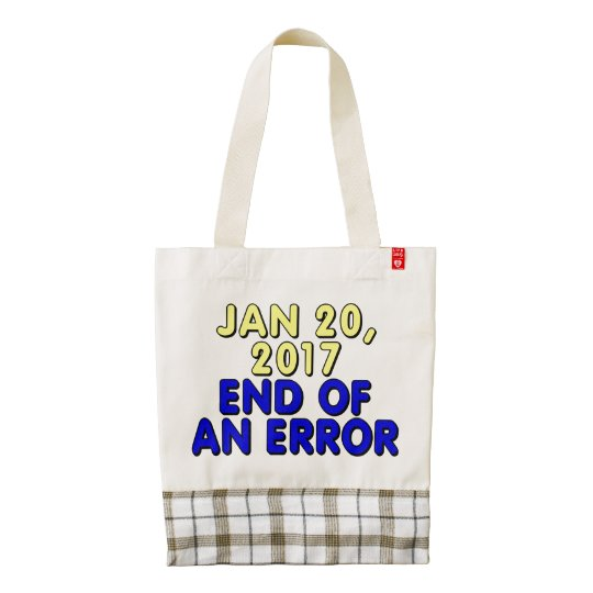 f8d684694cf January 20, 2017: End of an error Zazzle HEART Tote Bag | Zazzle.com