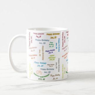 January, 20 Birthday Mug