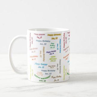 January, 22 Birthday Mug