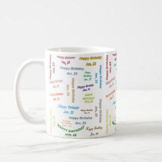 January, 23 Birthday Mug