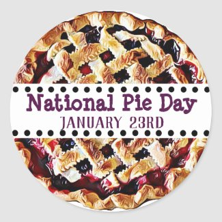 January 23rd is National Pie Day Food Holidays Classic Round Sticker