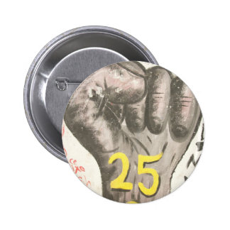 January 25 uprising pinback button