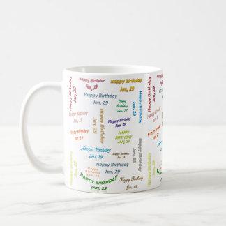 January, 29 Birthday Mug