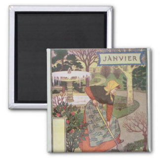 January 2 Inch Square Magnet