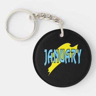 January 4 keychain