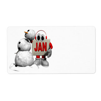 January 6 personalized shipping labels