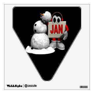 January 6 wall decal