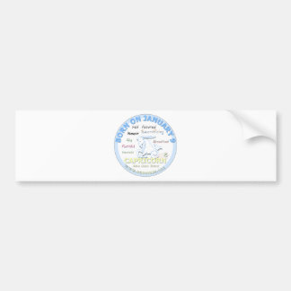 January 9th Birthday - Capricorn Car Bumper Sticker