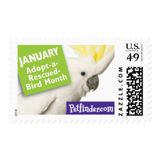 JANUARY - Adopt-a-Rescued-Bird Month Postage