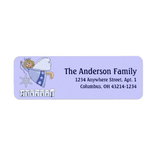 January Angel of the Month Return Address Labels