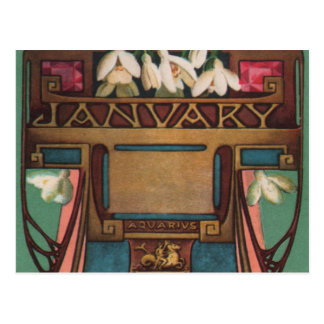 January - Aquarius Post Card