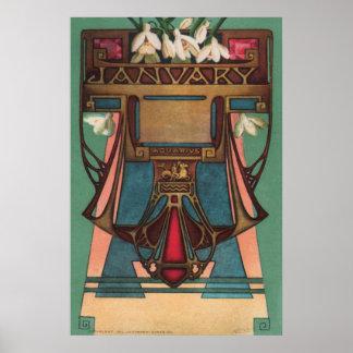 January - Aquarius Poster