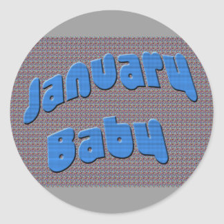 January Baby 2 Classic Round Sticker