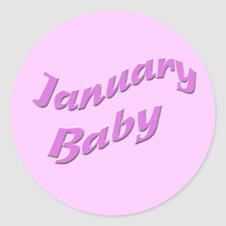 january baby 3 classic round sticker